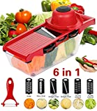 ADOV Mandoline Slicer, 6 in 1 Fruit and Vegetable Slicer, Multi Function Veg