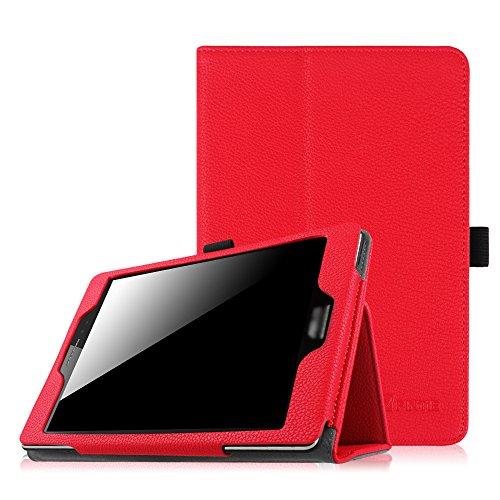 ASUS ZenPad S 8.0 Folio Hülle Case - Fintie Slim Fit Kunstleder Schutzhülle Cover Tasche aus mit Auto Schlaf/Wach Funktion für ZenPad S 8.0 Z580C / Z580CA 8 Zoll Tablet-PC, Rot