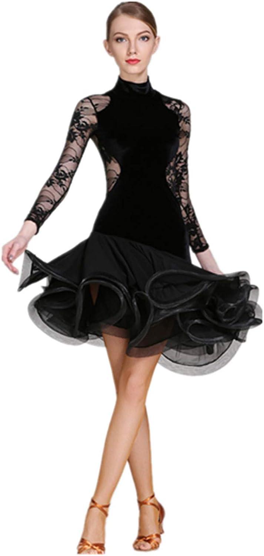 H&Q Adult Latin dance dress, Korean velvet material, long zipper on the back, beautiful skirt design, Latin dance dress