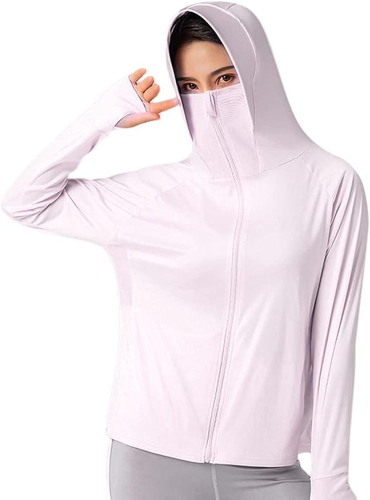 Yeahii Women's Zip UPF Bargain sale 50+ Sun Sle Hoodie Arlington Mall Jacket Long Protection