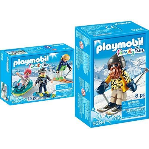 PLAYMOBIL 9286 - Freizeit-Wintersportler &  9284 - Skifahrer mit Snowblades