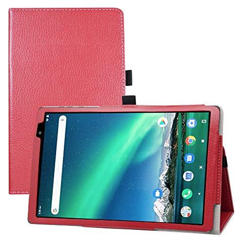 LFDZ TOSCIDO P20 Funda,Soporte Cuero con Slim PU Funda Caso Case para TOSCIDO P20 / LNMBBS P30 10 Inch Tablet(Not fit Other Models),Rojo
