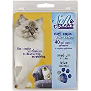 Soft Claws for Cats - CLS (Cleat Lock System), Size Medium, Color Blue
