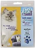 Soft Claws Feline Cat Nail Caps Take-Home Kit, Medium, Blue