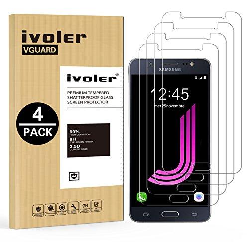 ivoler [4 Unidades] Protector de Pantalla Compatible con Samsung Galaxy J7 2016,...