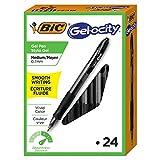 BIC Gel-ocity Original Retractable Gel Pen, Medium Point (0.7 mm), Black, 24-Count