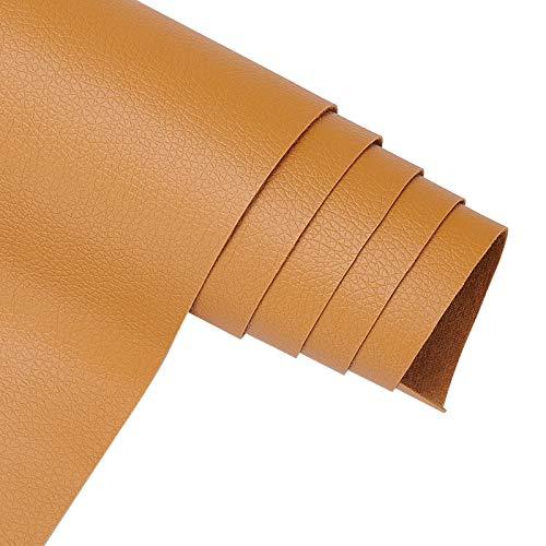 BENECREAT 33 x 140 cm, cuero sintético resistente al agua, para costura y manualidades, 0,5 mm de grosor