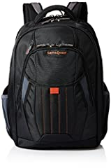 Constructed of poly ballistic fabric with diamond ripstop accents. Brushed tricot lined padded drop-in laptop compartment will accommodate most 17 inch laptops Smart sleeve on the back of the bag to secure to an upright. Brushed tricot lined sunglass...
