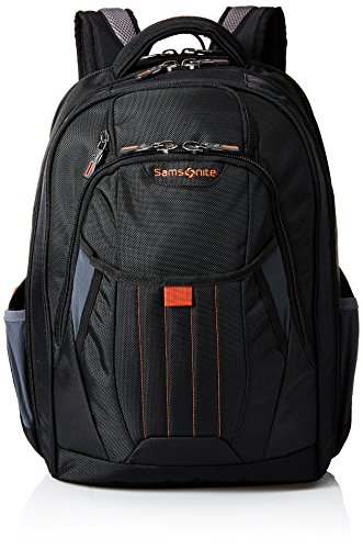 Samsonite Tectonic 2 Large Backpack, Black/Orange, 18 x 13.3 x 8.6