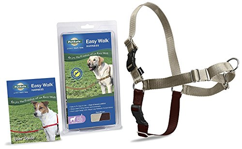 PetSafe Easy Walk Harness,  Medium/Large, Fawn & Brown for Dogs