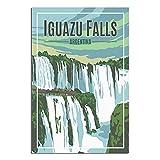 Vintage Argentinien Reise Poster Iguazu Falls Leinwand