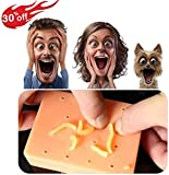 Squeeze Acne Funny Toys for Christmas -Gag Gifts White Elephant Gifts Peach Pimple Popping Toy Popper Remover Stop Picking Your Face