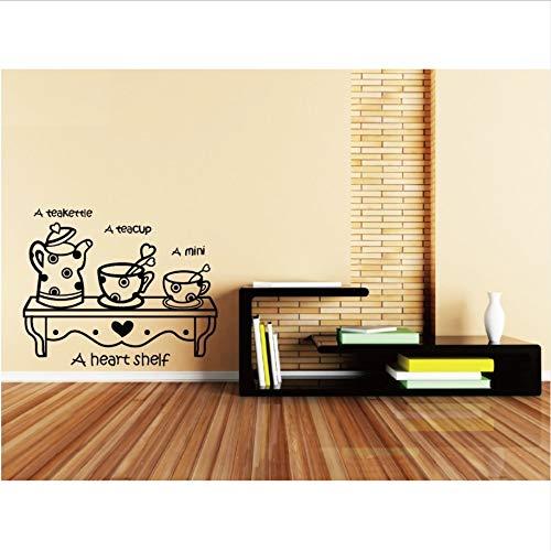 Wandaufkleber kreative herz vinyl wandregal lustige aufkleber diy cartoonfor wohnzimmer dekoration 61x50 cm