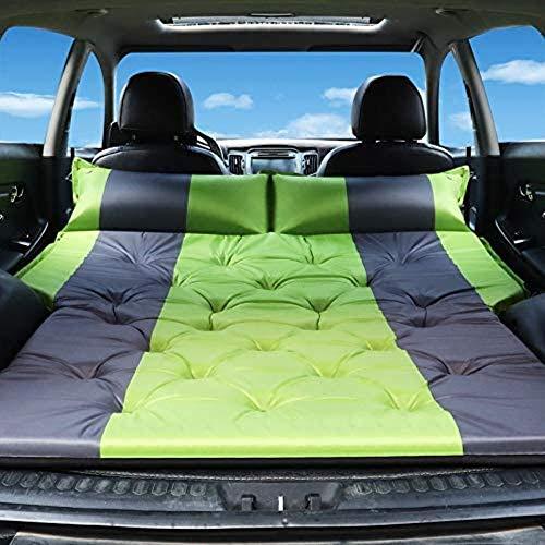 HongLianRiven Lettino da Viaggio Auto Gonfiabile Bed Auto Gonfiabile Auto Gonfiabile Letto Posteriore Materasso di Sonno off-Road Tronco di Viaggio Cuscino d'Aria Letto 5-12 (Color : Green)