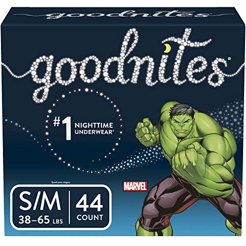 Goodnites Bedwetting Underwear for Boys, Small/Medium (38-65 lb.), 44 Ct (Packaging May Vary)