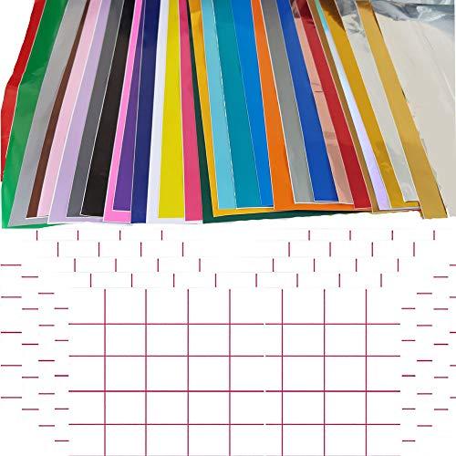 TSKDKIT 30 hojas de vinilo autoadhesivas de 30 x 30 cm con...