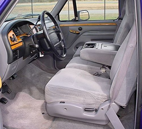 Durafit Seat Covers Made to fit 1993-1998 F150-F550 Regular, XCab and Crew Cab High Back 40/20/40 Split Seat with Molded Headrests and Opening Center Console in Tan Velour