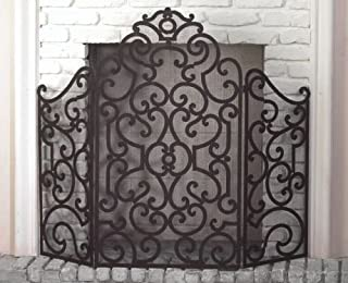 KensingtonRow Home Collection Fireplace Screens - Barcelona Fireplace Screen - Old World Finish