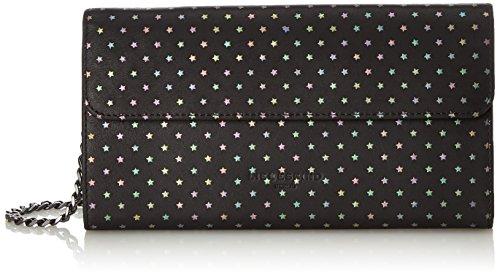 Liebeskind Berlin Mariaw7 Starst - Portafogli Donna, Schwarz (Oil Black), 3x12x23 cm (B x H T)