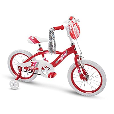 "Huffy 16"" Glimmer Girls Bike, Cherry Red"