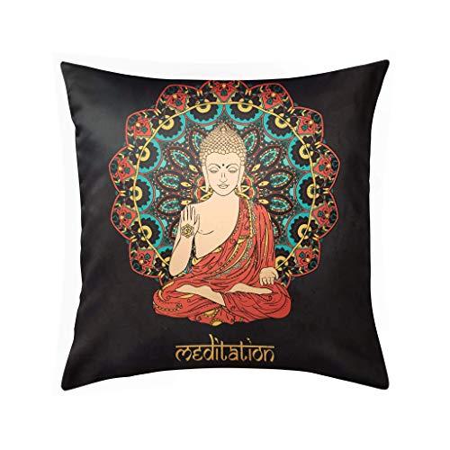 Fundas de Almohada Fundas de Almohada de meditación de Buda Fundas de Almohada Decorativas Fundas de Almohada de Lujo Funda de Almohada para el hogar Sofá para el hogar Decoración para el Dormitorio