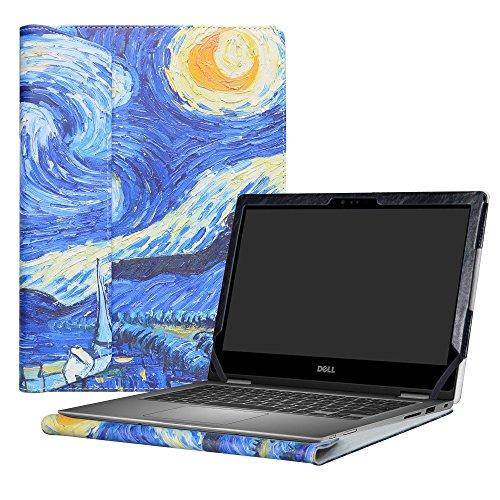 Alapmk Specialmente Progettato PU Custodia Protettiva in Pelle Per 13.3  Dell Inspiron 13 2-in-1 5000 Series 5378 5368 5379 i5378 i5368 i5379b Series Notebook,Starry Night