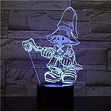 Luce notturna 3D Cartone animato Gioco di ruolo LED Multicolor RGB Camera Decor lampada da letto per bambini Regalo di Natale Giocattoli Lampada a goccia nave Amazon