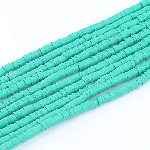 BOSAIYA Zz0 6 mm Polímero Plano Redondo Clay Beads Chip Disco Spacer Suelto Perlas Hechas a Mano para joyería de Bricolaje Haciendo Pulsera 15 Pulgadas Alrededor de 320pcs Tl0421