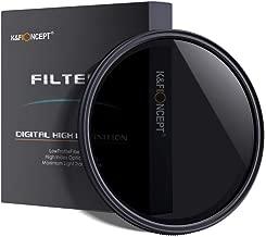 52mm ND Filter, K&F Concept 52mm Neutral Density Filter Slim Variable Fader ND2-ND400 Adjustable ND2 ND4 ND8 ND16 ND32 to ND400