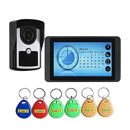 OUYA Kit De Videoportero para Timbre De Puerta, con Monitor De Pantalla LCD De 1-3 Y Cámara De Visión Nocturna HD para Seguridad En El Hogar,620fcid11