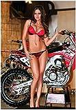 MX Bikini Girl w/Honda CRF250 Supercross Race...