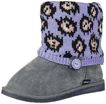 Muk Luks Girl s Patti Boots Fashion Grey 12 M US Big Kid