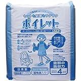 ポータブルトイレ用使い捨て紙バッグ 「ポイレット」 30枚入×6 日本製