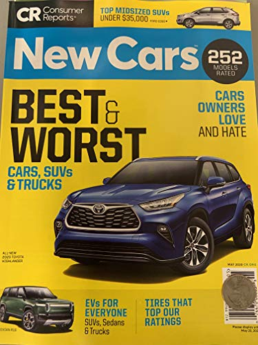 NEW CARS Buying Guide CONSUMER REPORTS MAY 2020 Best & Worst 252 MODELS Toyota Highlander Cover