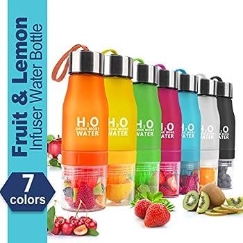 Hantajanss H2O Lemon Water Bottles, 20 oz