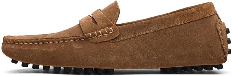 CAI CAI CAI Frauen Schuhe Flache Ferse Schuhe 2018 Neue Männer und Frauen Leder Erbsen Schuhe Herrenschuhe British LUN Freizeitschuhe Outdoor-Reisen Tägliche Schuhe (Farbe   009, Größe   49)  06fcb6