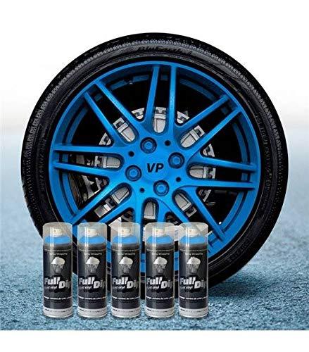AutoFullCar Pack 5 Sprays Full Dip Azul Metalizado