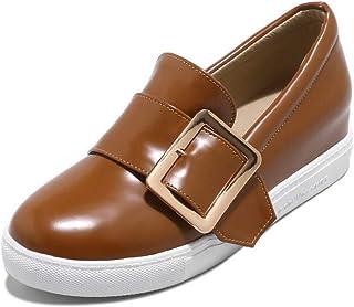 BalaMasa Womens APL11819 Pu Wedge Heels