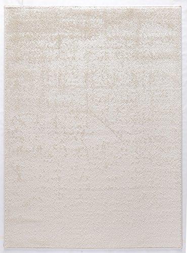 Luxus Hochwertiger einfarbiger Teppich Modern Größen Creme (160x230)