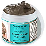 100% PURE & Natural Dead Sea Mud Mask NO INGREDIENTS ADDED - Acne Treatment, Blackhead Remover,...