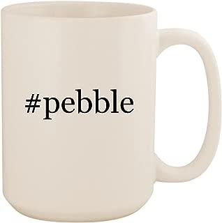 #pebble - White Hashtag 15oz Ceramic Coffee Mug Cup