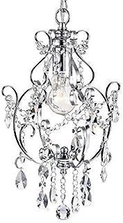 Amorette Chrome Mini Chandeliers Crystal Chandelier Lighting 1 Light Ceiling Light Fixtures