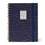 Legami A5NOTS0014 - Cuaderno con espiral a rayas, color Stars Small