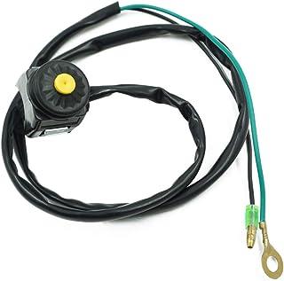Cyclist store Universal 7/8 Kill Switch Hupenknopf Stop 22mm Lenker Compatible For Motorrad Motorrad Motorrad Stop Horn Schalter (Farbe : Gelb)