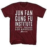 Bruce Lee - Camiseta simple de los hombres, Medium, Cranberry Heather