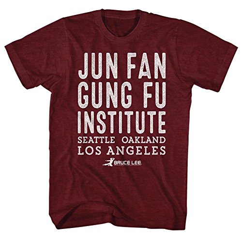 Bruce Lee Chinese Martial Arts Icon Jun Fan Gung Fu Institute Adult T-Shirt...