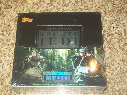 1995 TOPPS WIDEVISION STAR WARS RETURN OF THE JEDI BOX 24 PACKS PER BOX image
