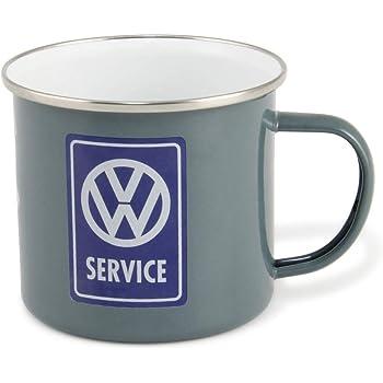 VW T1 Bulli Bus & Käfer Tasse emailliert 500ml schwarz | VW