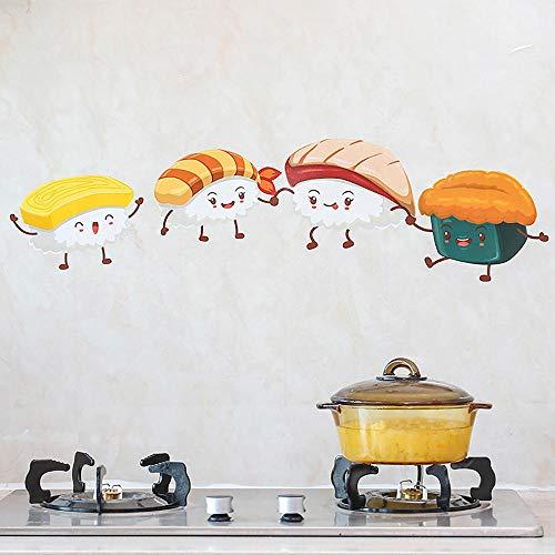 Pegatinas de papel de aluminio de cocina, pegatinas estáticas de PVC resistentes al agua y antiincrustantes, pegatinas de pared de dibujos animados,resistente al agua y antiincrustantes (60 x 88 cm)