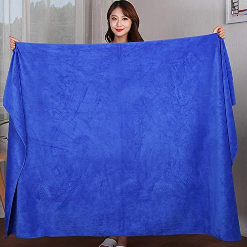 N/A Juego de Toallas Negras, Toallas de Cama extragrandes, Toallas de baño absorbentes envueltas en el hogar-Royal Blue_140x70cm